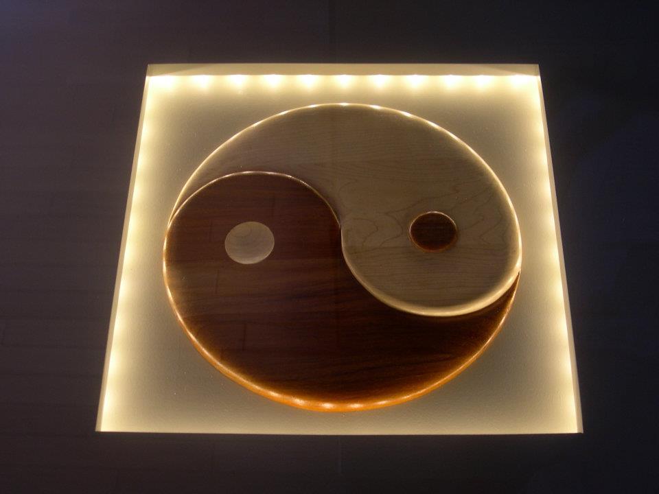 yin yang tafel licht